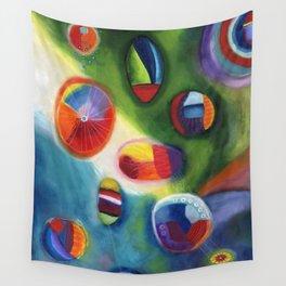 floating circles Wall Tapestry