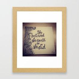 Brat Doll Art - Believe It Framed Art Print