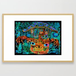 Multiple Organism Mushroom Framed Art Print