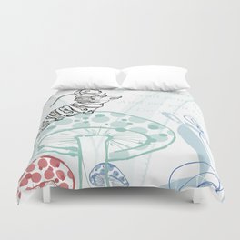 The Contradicting Caterpillar Duvet Cover