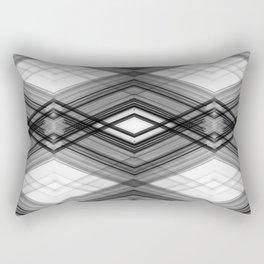 Technologic - Black and White Minimal Geometric Art Rectangular Pillow