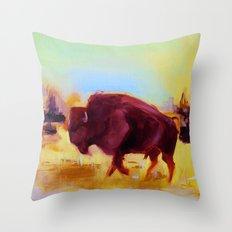 Little Buffalo Throw Pillow