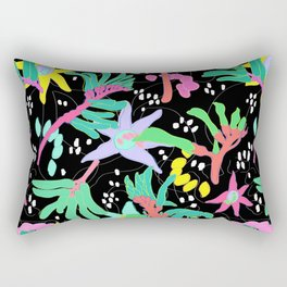 Australian Kangaroo Paw Floral in Golden Mango Rectangular Pillow