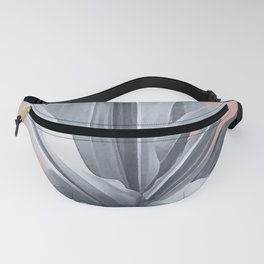 Grey Leaves. Tropical pink Fanny Pack
