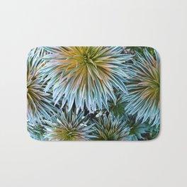 Star Plant Teal Bath Mat