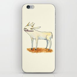 Goat with luscious lips. iPhone Skin