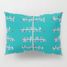Boat Docks Naples-Pinks on Aqua Pillow Sham