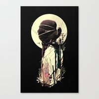 tangled Canvas Prints featuring Tangled by nicebleed