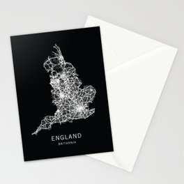 England Road Map Stationery Cards