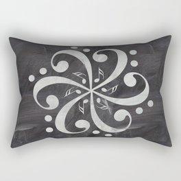 Music mandala on chalkboard Rectangular Pillow