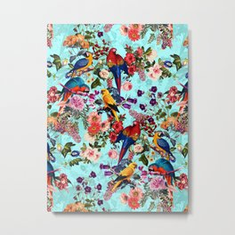 Floral and Birds XI Metal Print