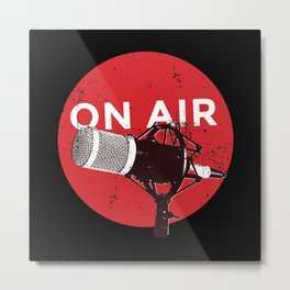 RADIO ON AIR Metal Print