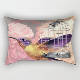 Too Wild for a Cage Rectangular Pillow