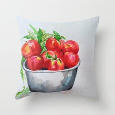 Apple Bowl Throw Pillow