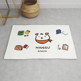 Hinggu_Note_Korea Jindo Dog illustration Rug