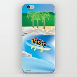 Dominican Republic - Skyline Illustration by Loose Petals iPhone Skin