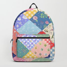 Happy patchwork quilt Backpack