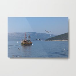 The Black Pearl Is Sailing The Waters Once Again Metal Print