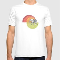 Elephant... MEDIUM Mens Fitted Tee White