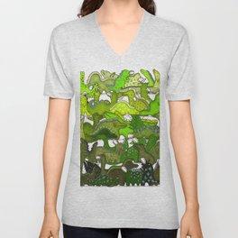 Green Dinosaur Gradient Unisex V-Neck