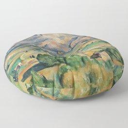 Paul Cezanne Mont Sainte-Victoire (La Montagne Sainte-Victoire) 1892-1895 Floor Pillow
