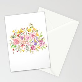 Watercolor Flowers Spring Stationery Cards