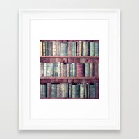 books Framed Art Prints featuring books by Claudia Drossert