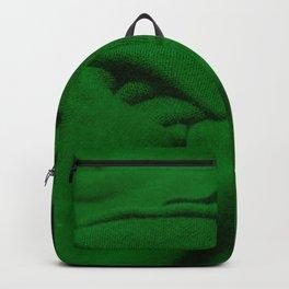 Green Velvet Dune Textile Folds Concept Photography Backpack