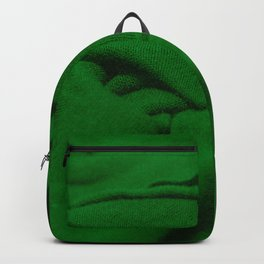 Green Velvet Dune Textile Folds Concept Photography Backpack
