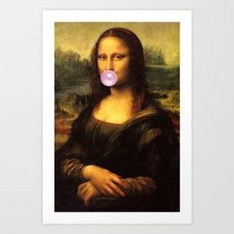 Mona Lisa Bubble Gum Art Print