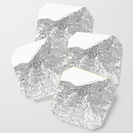 Cleveland White Map Coaster