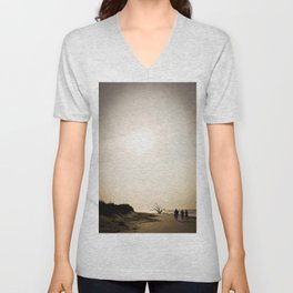 Stroll along the Beach Unisex V-Neck