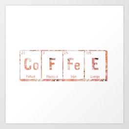 coffee periodic table Art Print