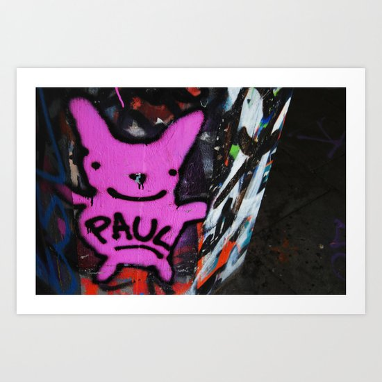 graffi in central London Art Print