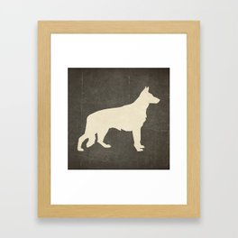 Shepard for textiles Framed Art Print