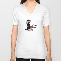 pinup V-neck T-shirts featuring PinUp by Mack Wisedzines Tompkins III