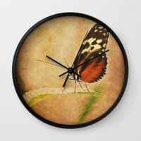 antique Wall Clocks featuring Antique Butterfly by Loveurstyle