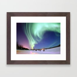 Northern Lights of Alaska Photograph Framed Art Print