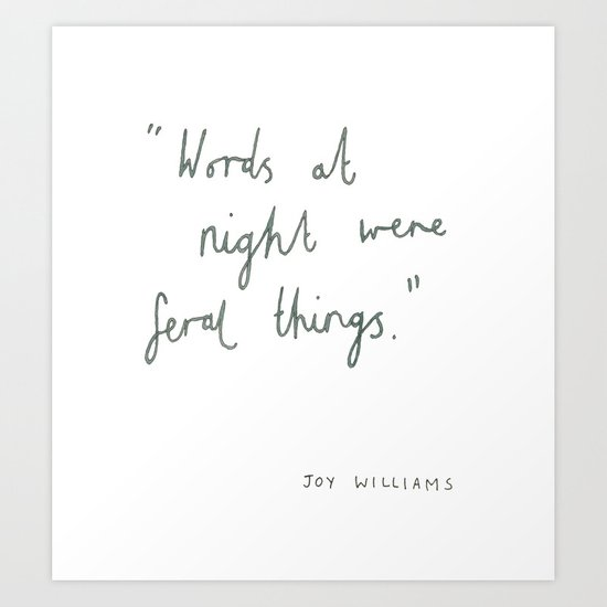 Words At Night Art Print