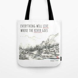 River of Living Water Tote Bag