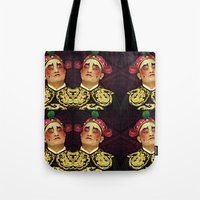 actor Tote Bags featuring Chinese Opera Actor. by Ian Gledhill