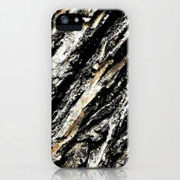 Diagonal Tree Bark Texture iPhone Case