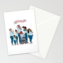 Intersectional Rosie the Riveter Stationery Cards