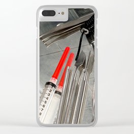 Medical Utensils Clear iPhone Case