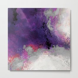 Purple Rain Metal Print