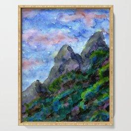 Sundowner Mountains Serving Tray