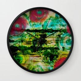 Spinning Wheels Wall Clock