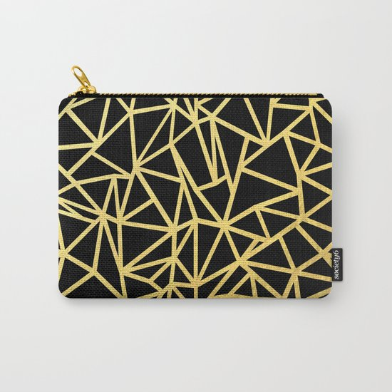 Abstract Outline Thick Gold Carry-All Pouch