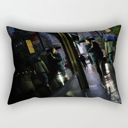 New York Rain Rectangular Pillow
