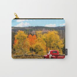 Old Chevy In The Fall Carry-All Pouch